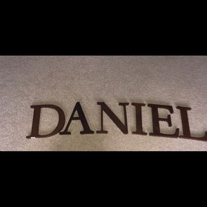 Pottery Barn Brown Wooden Letters